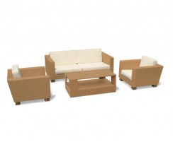 Sorrento Rattan Sofa Set with Coffee Table