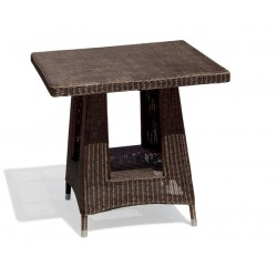 wicker dining table