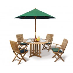 Berrington Octagonal Gateleg 1.2m Table with 4 Rimini Armchairs