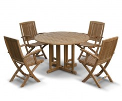 Berrington Round Gateleg 1.2m Table with 4 Rimini Armchairs