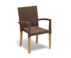 Sandringham Square 0.9m Table & 4 St. Tropez Stacking Chairs Set
