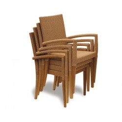Sandringham Rectangular 1.5m Table & 6 St. Tropez Stacking Chairs