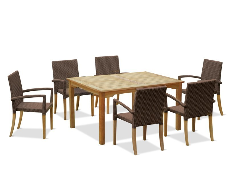 Sandringham Rectangular Table Amp 6 St Tropez Rattan