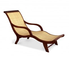 Capri Reclaimed Teak & Wicker Lounger