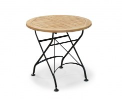 Round Outdoor Bistro Table, Black – 0.8m