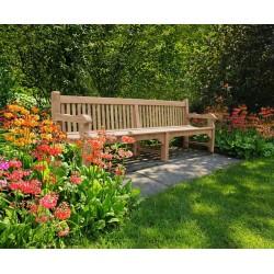 teak public park large bench 3m