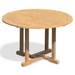 Canfield Teak Round Garden Table – 1.2m