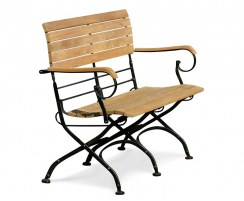 french Bistro outdoor Bench with Arms – 1.2m