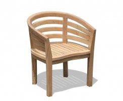 Kensington Teak Banana Chair, Deco Tub Chair