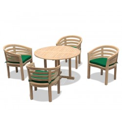 Canfield 1.2m Dining Table with 4 Kensington Banana Chairs
