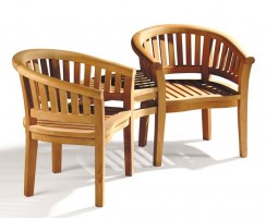 Contemporary Teak Corner Companion Seat