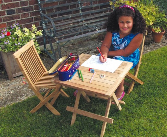 . Children s Wooden Table   Chairs  Kids  Outdoor Patio Furniture Set
