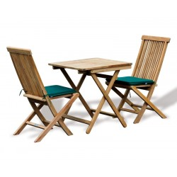 Rimini Square 0.7m Table & 2 Ashdown Side Chairs
