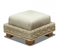 Water Hyacinth Seagrass Footstool Ottoman