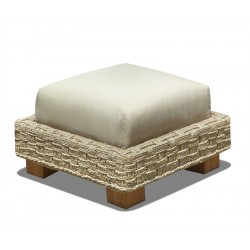 Seagrass Cube Footstool, Water Hyacinth Ottoman