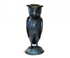 Large Owl Garden Ornament, Brass Outdoor Statue