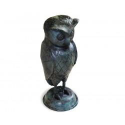 Large Owl Garden Ornament, Brass Outdoor Statue