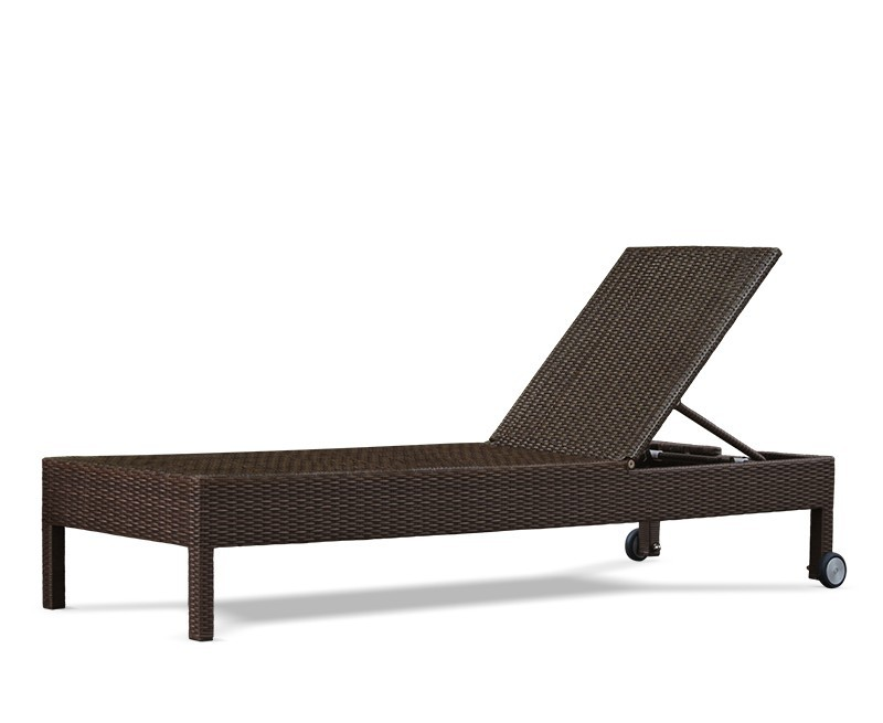 rio rattan recliner garden sun lounger with wheels. Black Bedroom Furniture Sets. Home Design Ideas