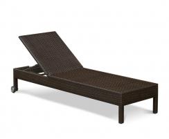 rattan reclining sun lounger