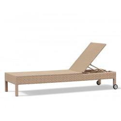 reclining woven sun lounger