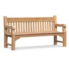 Banchory Solid Wood Teak Park Bench – 1.8m