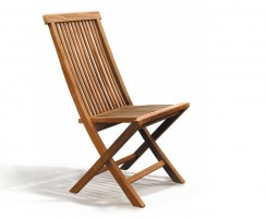 Rimini Rectangular 1.2m Table & 4 Ashdown Folding Side Chairs