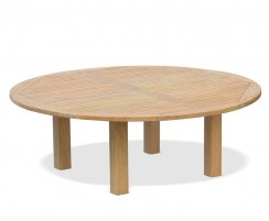 Titan 7ft Large Round Garden Table, Teak – 2.2m