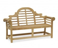 Lutyens Teak 1.65m Bench, Armchairs & Coffee Table Outdoor Set