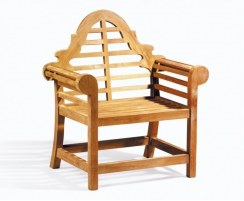 Lutyens Teak 1.95m Bench, Armchairs & Coffee Table Outdoor Set