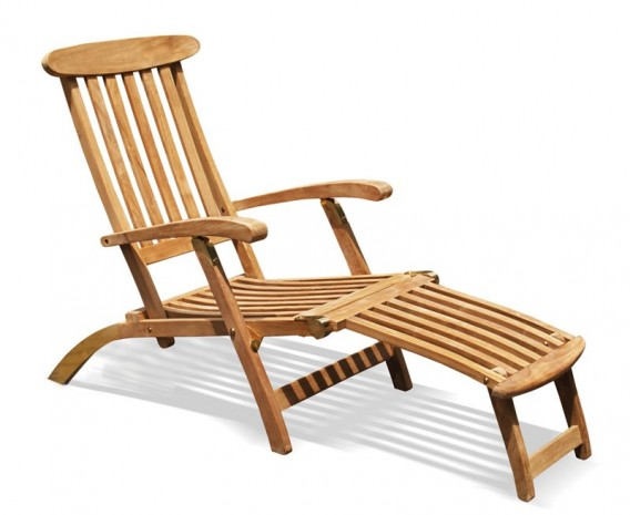 Wooden Steamer Chair, Teak Deck Chair