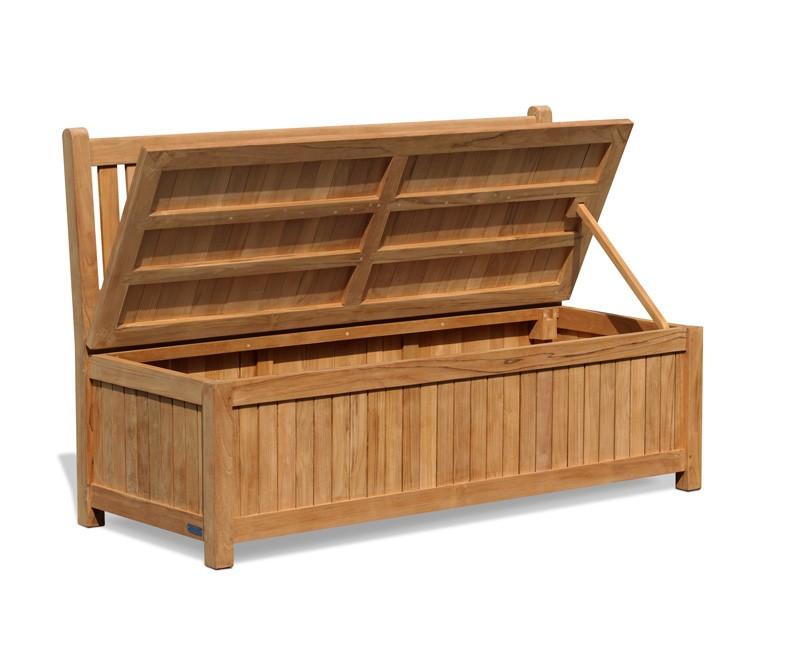Windsor Wooden Garden Storage Bench 1 5m