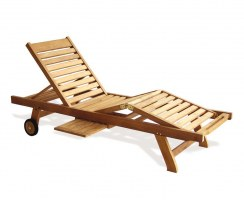 Luxury Sun Lounger, Teak