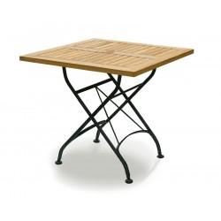 Bistro Teak & Metal Square Outdoor Folding Dining Table