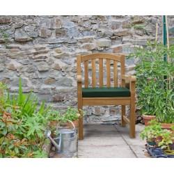 wooden outdoor armchair