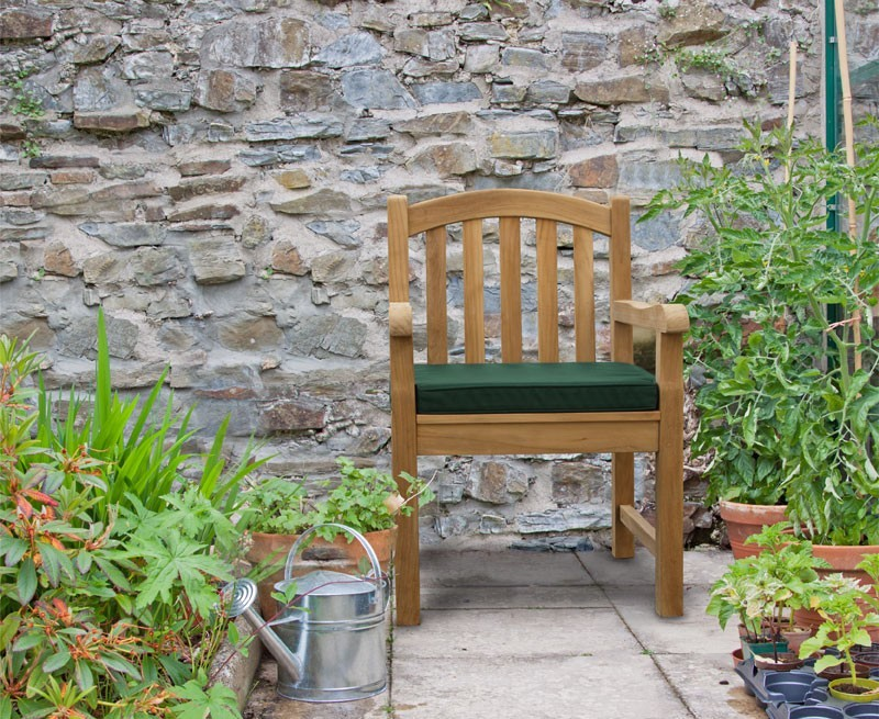 Clivedon teak garden armchair wooden outdoor dining