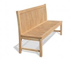 Canterbury Armless Garden Bench with back, Teak – 1.8m