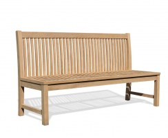 Canterbury Dining Bench Seat with back, Teak – 1.8m, Armless