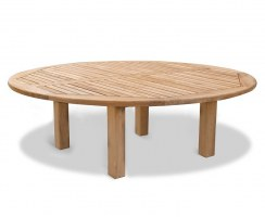10 Seater Garden Dining Set, Titan Round 2.2m Table with Contemporary Banana Chairs