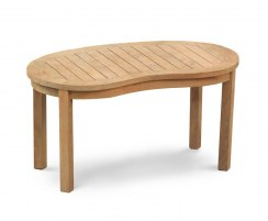 Contemporary Kidney-shaped Table, Outdoor Curved Coffee Table