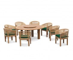 8 Seater Patio Set, Titan Round 1.8m Table with Kensington Banana Chairs