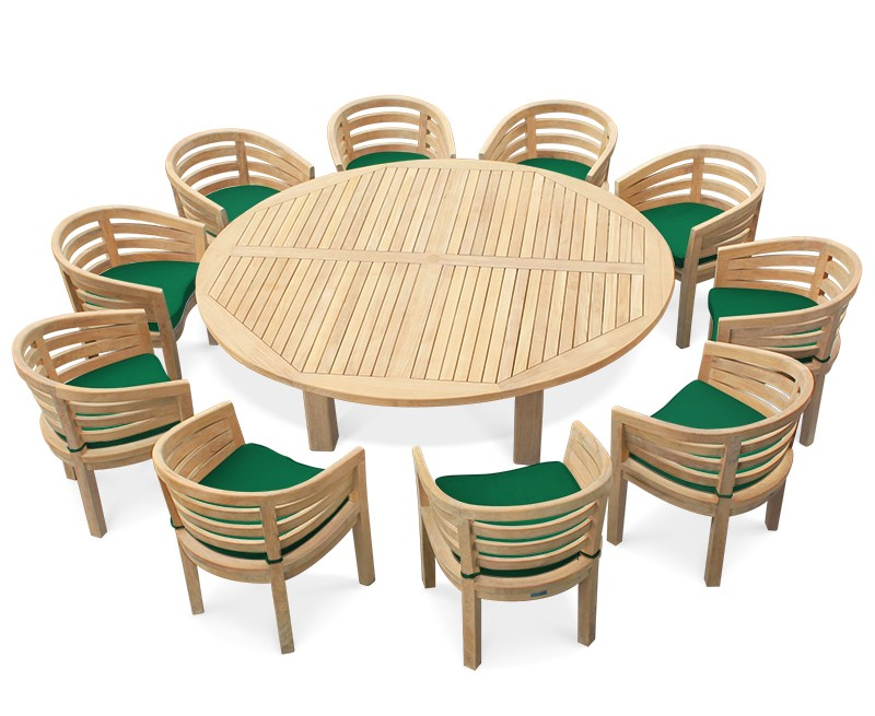 10 seater garden dining set titan round table with kensington banana chairs. Black Bedroom Furniture Sets. Home Design Ideas