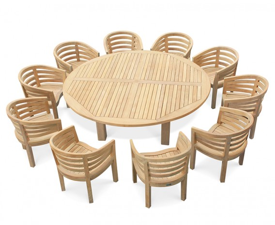 10 Seater Garden Furniture 10 seater garden dining set titan round 22m table with kensington 10 seater garden dining set titan round 22m table with kensington banana chairs workwithnaturefo