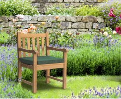 teak wooden armchair