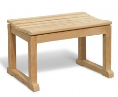 Westminster Wood Garden Stool, Teak Bathroom Bench