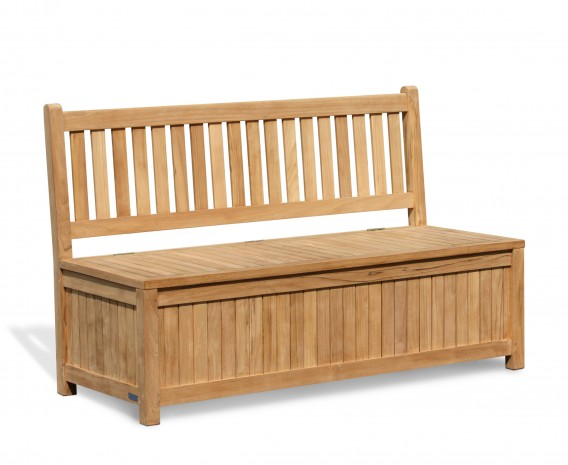 Windsor Wooden Garden Storage Bench – 1.5m