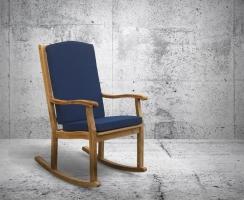 outdoor wooden rocking chair