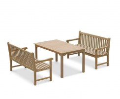 Sandringham Teak Table and Benches Set - 1.5m