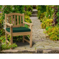 teak oval garden chair with arms