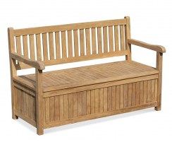 Windsor Wooden Garden Storage Bench with arms – 1.5m
