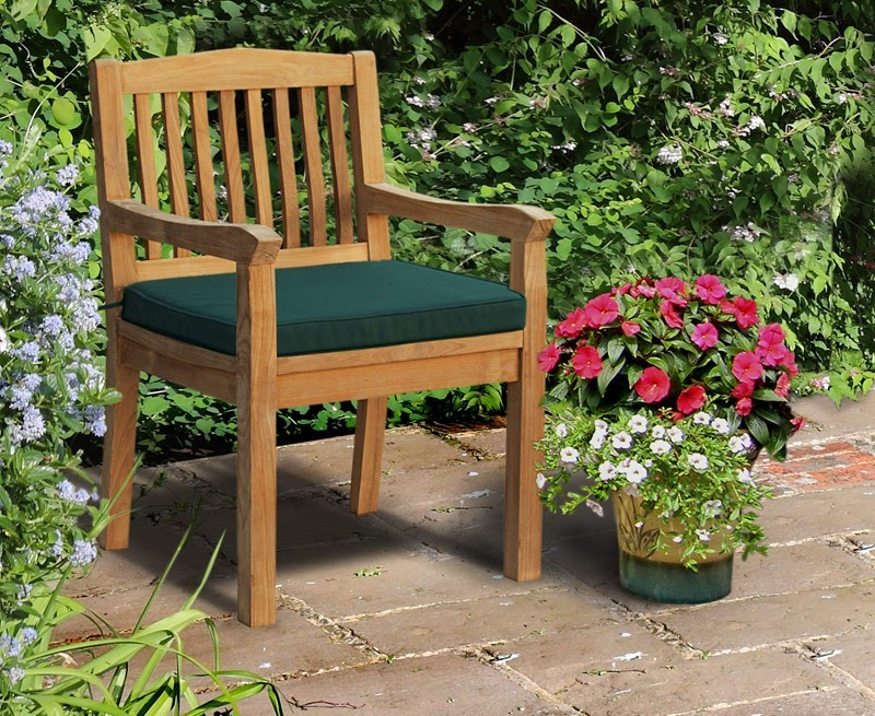 Hilgrove Teak Garden Dining Chair With Arms